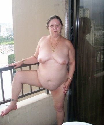 image Granny with flabby body amp empty saggy tits with guy